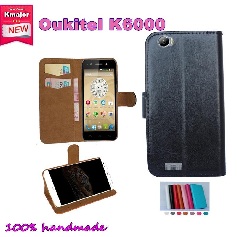 OUKITEL K6000 Cas Flip En Cuir Cas de Glissement résistant Smartphones Pour OUKITEL K6000 5.5 pouces Poche Cover Card Wallet Slots 7 Couleurs