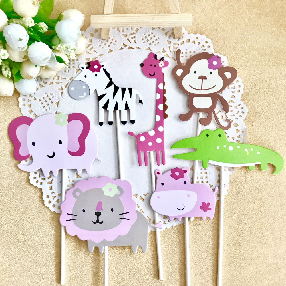 Event & Party Liberal Omilut 7pcs Safari Jungle Animal Cupcake Toppers Safari Party Cake Decoration Baby Shower Girls Happy Birthday Party Supplies Promoting Health And Curing Diseases