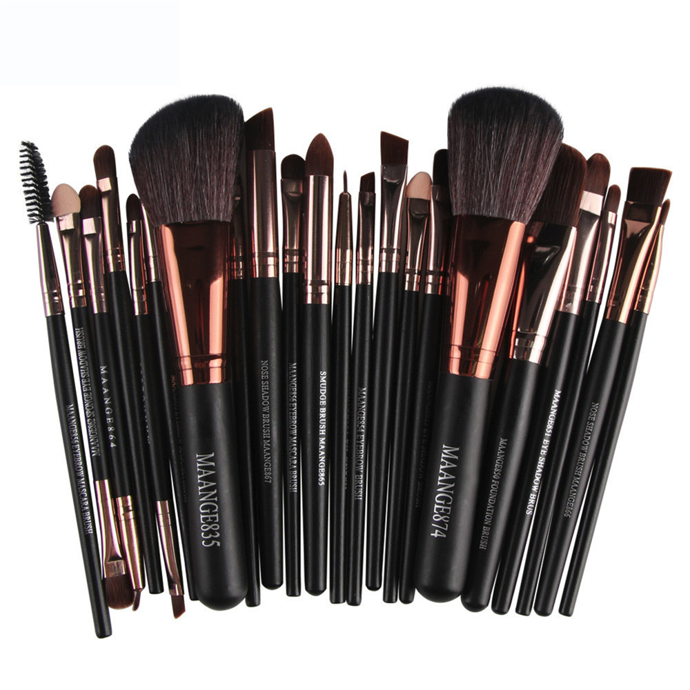 2017 Professional 22pcs Cosmetic Makeup Brushes Set Blusher Eyeshadow Powder Foundation Eyebrow Lip Make up Brush