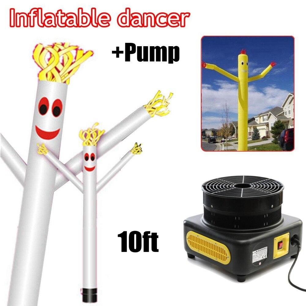 10ft/3 m Vent Danse r Tube Dessin Animé Homme De Danse Gonflable Marionnette D'air De Ciel D'air Homme Dansant pour La Publicité