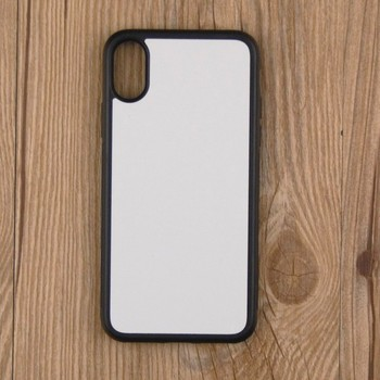 2D TPU Sublimation Blank Cover Case for iPhone X DIY Phone Case for iPhone 10 Ten Printed TPU+PC With Aluminium Plate 50PCS/LOT