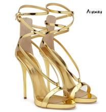 Aiyoway Women Shoes Peep Toe High Heels Sandals Cover Heel Zipper Ankle Straps Buckle Spring Summer Ladies Party Wedding