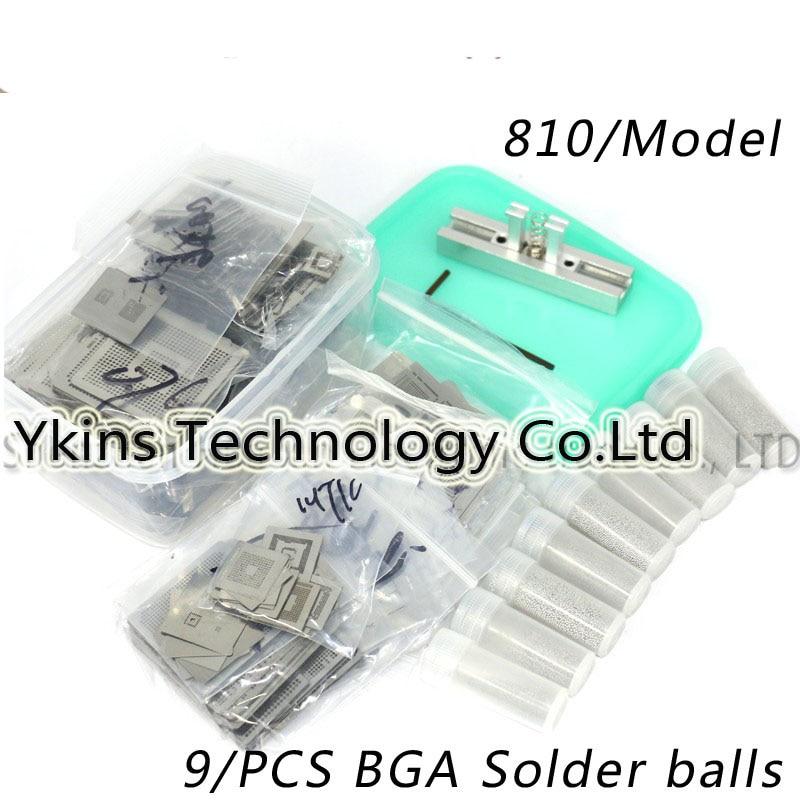 New Upgrade 810/model BGA Stencil Bga Reballing Stencil Kit with direct heating Reballing station Replace+9/PCS BGA Solder balls