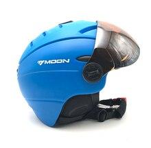 Integralmente moldeado Casco de esquí con los anteojos PC + EPS Casco de Skate Casco De Esquí Snowboard Al Aire Libre S-XL 4 colores