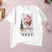 t-shirts summer woman 2019 Trend style Fashion VOGUE Printed T shirts queen Harajuku Aesthetic Short Sleeve O-Neck Tshirt grunge
