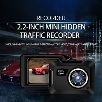 2.2-Inch Mini Screen Car DVR Camera 1/6''CMOS Lens Support 12 languages TF Card HD 1080 Resolution USB Charge Driving Recorder image