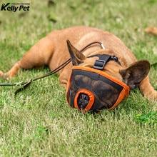 Dog Muzzle For Nylon Mask Bark Mesh Breathable Pet Comfortable Adjustable New Design Grooming Anti Stop Bite