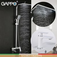 GAPPO Shower Faucets Bathtub Taps Bathroom Shower Set Basin Faucet Basin Faucets Basin Sink Tap Shower