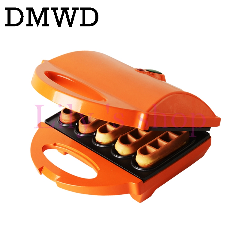Mini multifunctional cake maker DIY household waffle machine double sided heating breakfast machine not sticky plate EU US plug
