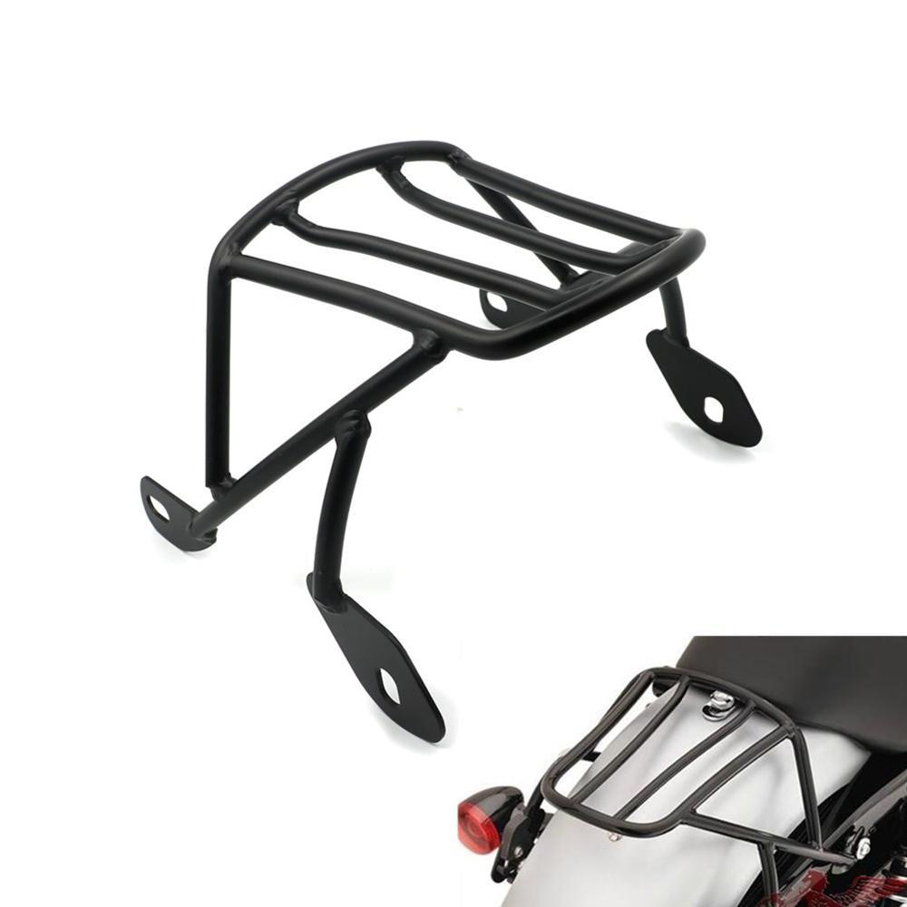 Rear Detachable Luggage Rack Support Saddlebag Cargo Shelf w/ Mount Screws Kits for Harley Sportster XL 883 1200 X48 2004-2016 detachable luggage saddlebag cargo rack support shelf mounting screws for harley sportster xl883 xl1200 x48 2004 2016 solo seat