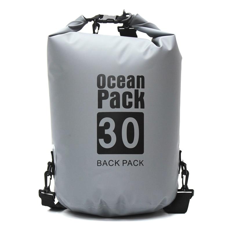 30L Waterproof Bags Ultralight Camping Hiking Dry Bag Waterproof Drifting Kayaking Swimming Bags for Outdoor Sport Bag цена и фото