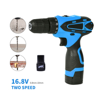 16.8V Cordless Drill 2 Speed Wireless Power Driver Electric Screwdriver Home Diy Tools Taladro Inalambrico Matkap Parafusadeira