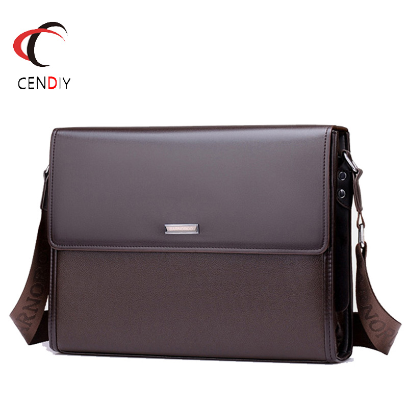 2018 PU Leather Men Briefcase Brand Men's Messenger Bag Male Laptop Bag Business Fashion Large Capacity Shoulder Bags Travel Bag