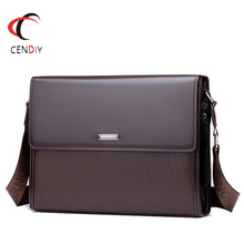 2018 PU Leather Men Briefcase Brand Men's Messenger Bag Male Laptop