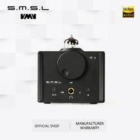 SMSL T1 Hi Fi Headphone Amplifier CM6632A AK4490EQ Optica Coaxial USB Decoder DAC DSD512 384kHz with Hi Fi Audio Tube RCA Output