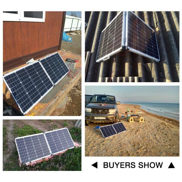 dokio 100 вт складной панели солнечные китай (2 шт х 50 вт) фотография