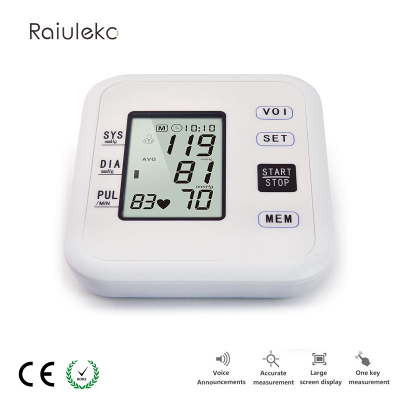 Fully Automatic Intelligent Blood Pressure Monitor Digital Arm Sphymomanometer Electronic Blood Pressure Meter For Home Use blood pressure monitor automatic digital manometer tonometer on the wrist cuff arm meter gauge measure portable bracelet device