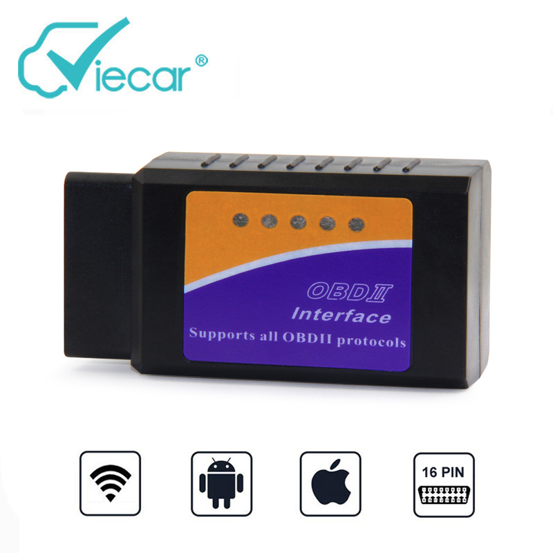 Viecar Wifi OBD2 elm327 v1.5 Wi-fi Auto Diagnose Werkzeug Ulme 327 OBD 2 wifi Für iPhone eml327 1,5 odb2 Scanner für IOS Scan Tool
