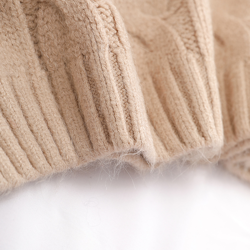 Femmes see 2019 Nouveau Élégant Chart Chaud See Chandails Outwear Manteau Solide Épaissir Lady Tricoté Pulls Tops Col Chart Et Lâche Roulé XSw545