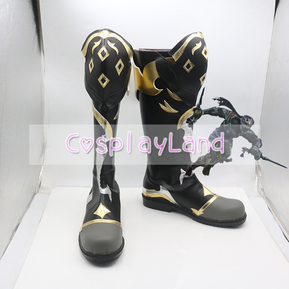 Final Fantasy XIV Ninja Cosplay Shoes Boots for Adult Men Shoes Costume Accessories Custom Made Halloween Party Shoes