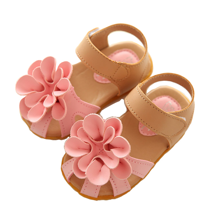 Hot Sale kids sandals 2016 summer new girls child shoes PVC princess baby girls shoes fashion flower sandals free shipping