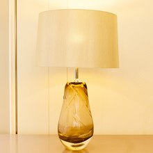 TUDA Transparent Crystal Glass Table Lamps Vase Shape Lamp For Bedroom Living Room Luxurious High Grade