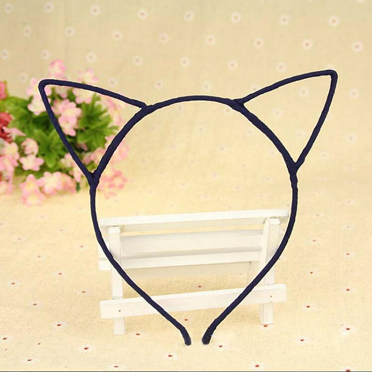 40PCS Girl Headband Sequin Cat Ears Kitty Hair Band Lady Cosplay Accessories Lot