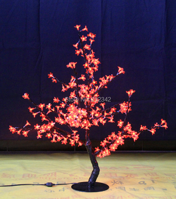LED Artificial Cherry Blossom Tree Light Christmas Decoration Light Outdoor or Indoor Lamp 264pcs LEDs 1m/39.5 Height Free Ship