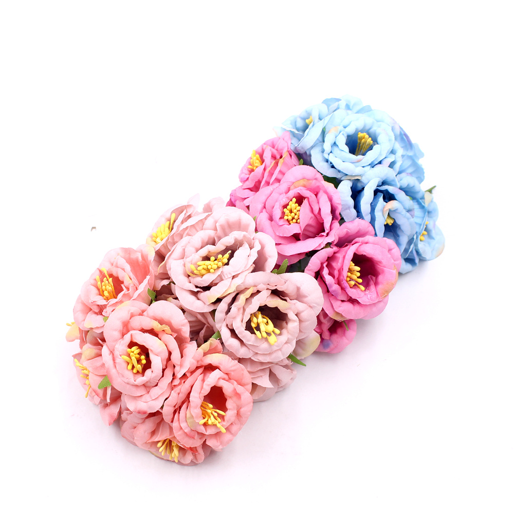 Buy 12Pcs 5cm Mini Nonwovens Peony Bouquet For Wedding Decoration Artificial Flower DIY wreath Gift Box Scrapbooking Fake flowers for $1.71 in AliExpress store