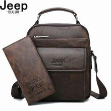 JEEP BULUO Brand Men's Messenger Fashion Split Leather For Men Tote Bag Men Shoulder Bags High Quality Handbags New 2PC/Set альбом для рисования action animal planet a4 32 листа ap aa 32 ap aa 32