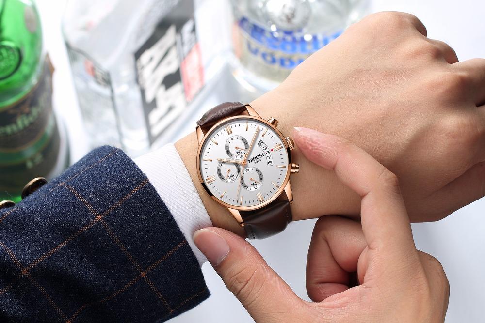 Relojes de hombre NIBOSI Relogio Masculino, relojes de pulsera de cuarzo de estilo informal de marca famosa de lujo para hombre, relojes de pulsera Saat 45