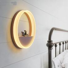 Lámparas de pared redondas simples y modernas para niños, luces led para dormitorio y baño, luces de pared para decoración industrial para el hogar, lámpara para dormitorio