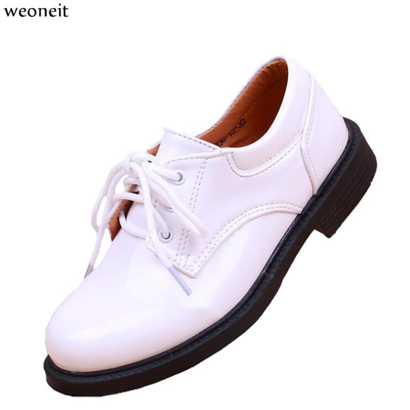 Weoneit 2019 New Children Pu Leather Dress Shoes Boys