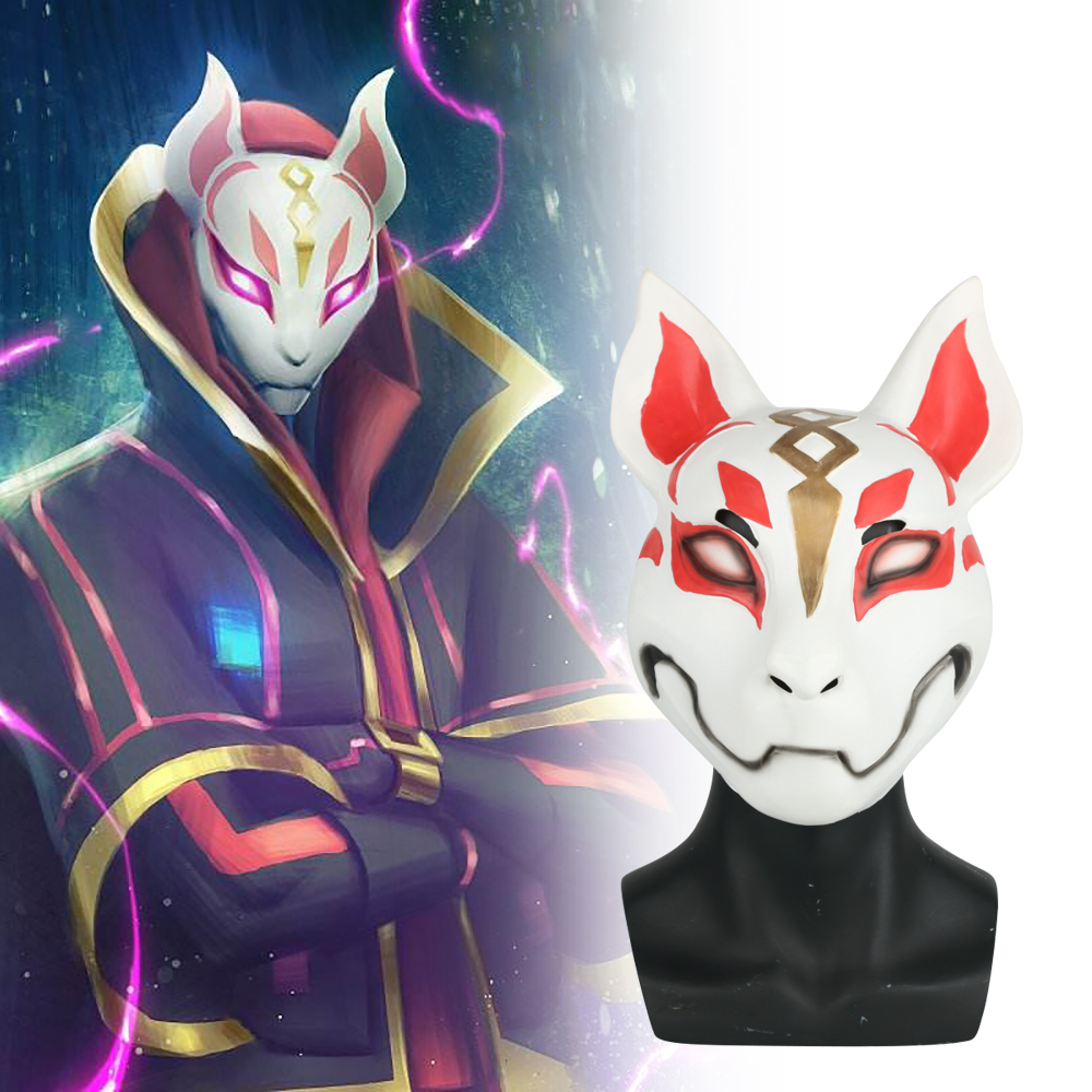 2018 Game Drift Mask Fox kitsune Animal Full Head Mask Adult Unisex Masquerade Helmet Props Party Halloween Fancy Dress
