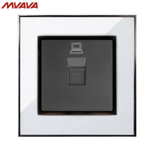 MVAVA PC LAN Wall Decorative Socket Computer Jack Plug Universal Receptacle Luxury Mirror White Panel Outlet Free Shipping цена