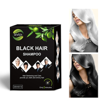 5pcs/lot Instant Black Hair Shampoo Make Grey and White Hair Darkening and Shinny in 5 Minute Sevich Brand Make Up Free Shipping