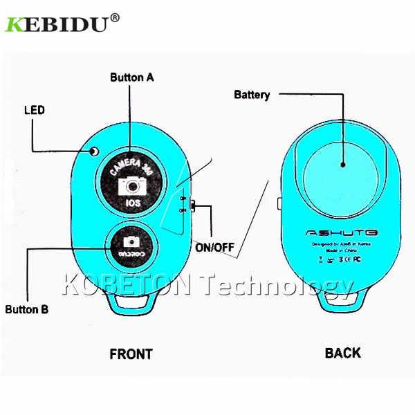 Kebidu 1 Pcs Bluetooth Ponsel Self Timer Tombol Rana untuk iPhone 7 Selfie Stick Rilis Rana Remote Kontrol Nirkabel untuk IOS