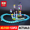 New LEPIN 01008 Friends 1124pcs Amusement Park Roller Coaster Model Building Blocks Bricks Compatible Toy Christmas