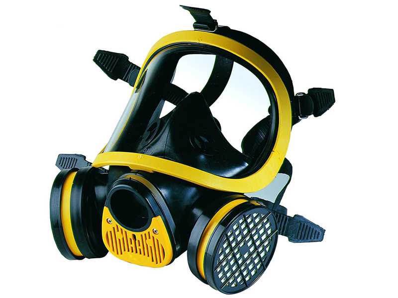 SQY-FF05 Military and Police Style Full Face Gas Mask With Double Filter Training Mask ...