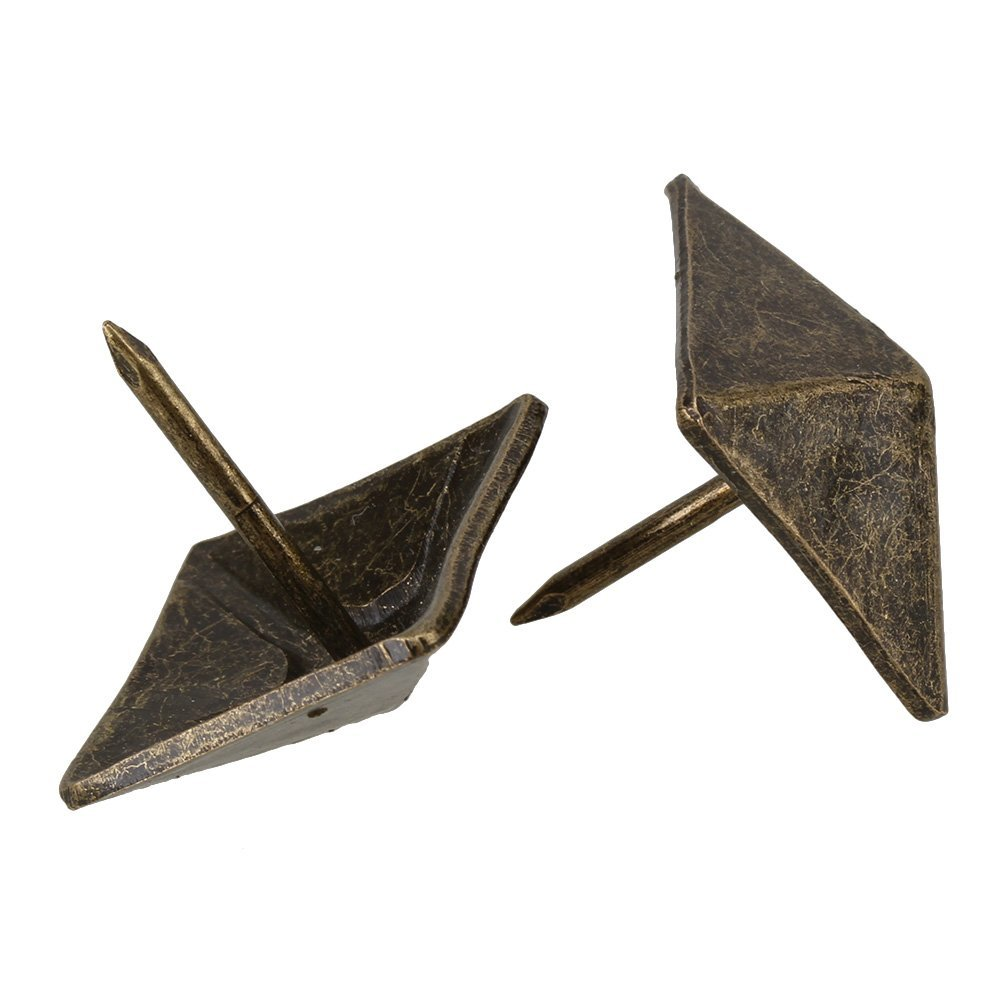 decorative nails for furniture. Replacement Bronze Antique Square Upholstery Nails Tack Pyramid Studs Vintage Furniture 19 X 21mm (Pack Of 50)-in From Home Improvement On Decorative For H