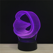 Line Art Three-dimensional Space Acrylic 3D Lamp 7 Color Change Night Light Baby Gifts LED Desk lamp Atmosphere Decor souvenir