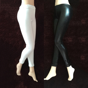 1/6 Scale Black and White Women Leggings Models for 12'' Action Figures Bodies