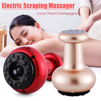 New 2019 Electric Heating Massage Scraping Instrument Dredging Collaterals Detox Chinese Physical Massager Gua Sha Instrument