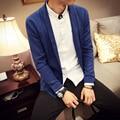 Plus size code M-XXXL 2016 autumn new men's solid color cardigan sweater coat Korean version of Japanese tide
