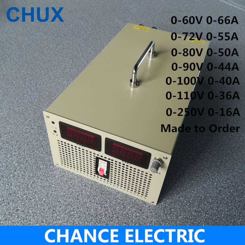 60V 72V 80V 90V 100V 110V 250V Switching Power Supply 4000W Input 110V 220V 380V AC