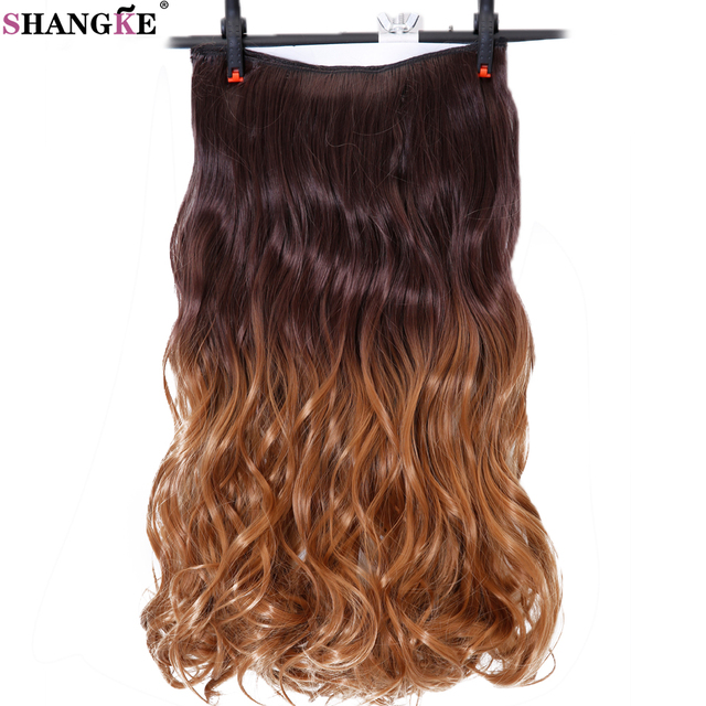 Shangke Long Wavy 5 Clip In Hair Extensions Ombre Hairpieces Heat