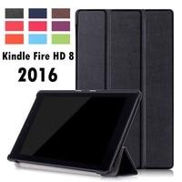ForAmazon New Kindle Fire HD 8 2016 Folding Folio Stand Sleep Smart Pu Leather Case Cover