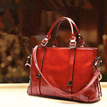 New 2015 Women Handbag Top Quality Oil Wax leather shoulder Bag Women Famous Brands Handbags Casual Women's Messenger Bags