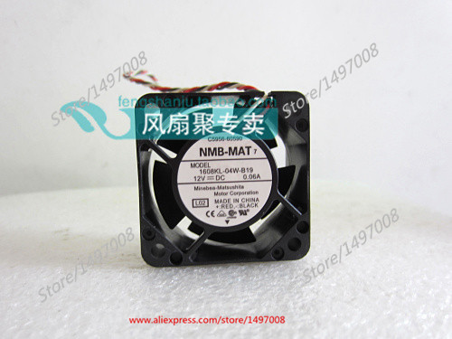 NMB-MAT 1608KL-04W-B19, L02 DC 12V 0.06A, 40x40x20mm   Server Square  fan nmb mat 3110kl 04w b49 b02 b01 dc 12v 0 26a 3 wire server square fan