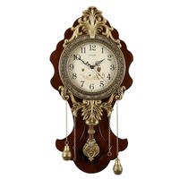 1PCS European wall clock creative living room table retro mute home quartz clock American fashion personality clocks LU614144
